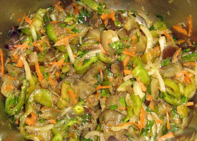 Салат по-корейски с баклажаном