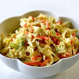 Фото салата из капусты с рисовым уксусом