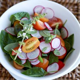 salat s pomidoram s redisom
