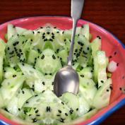 Фото салата из огурцов с Васаби