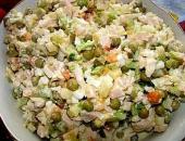 Салат Оливье с колбасой. Рецепт приготовления.