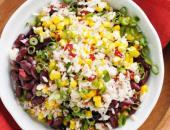 Фото салата с фасолью