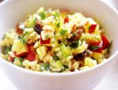 Фото салата с рисом и карри